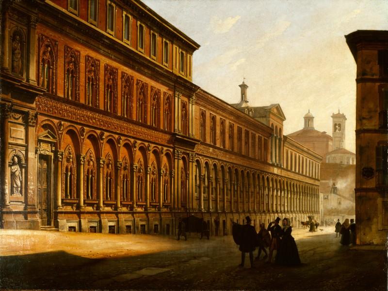 Luigi Premazzi Veduta dell'Ospedale Maggiore di Milano
