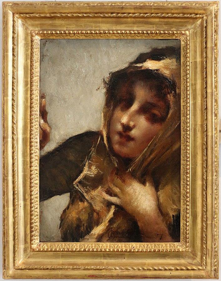 Luigi Conconi donna alla finestra