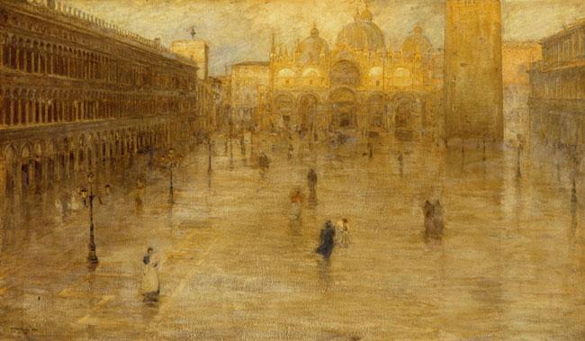 Pietro Fragiacomo Piazza San Marco