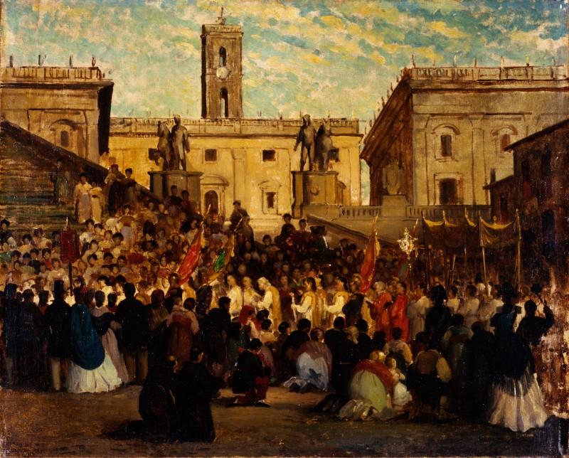 Pio Joris Processione all'Ara coeli