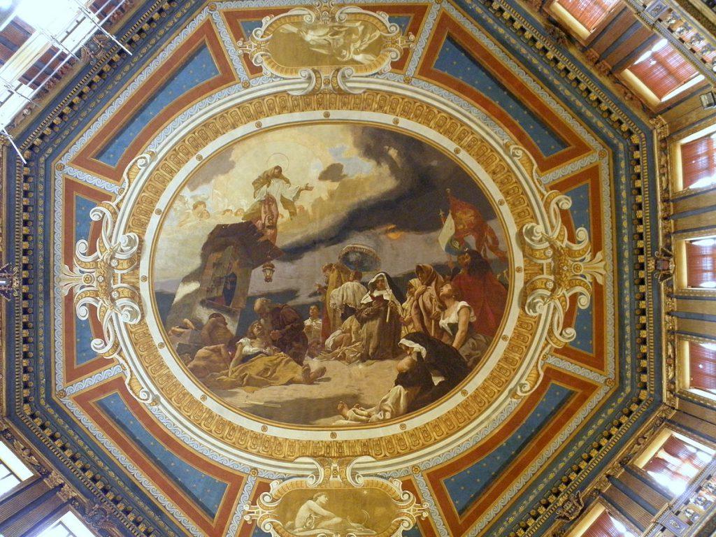 Emanuele Bressanin Beata Vergine del Soccorso interno soffitto