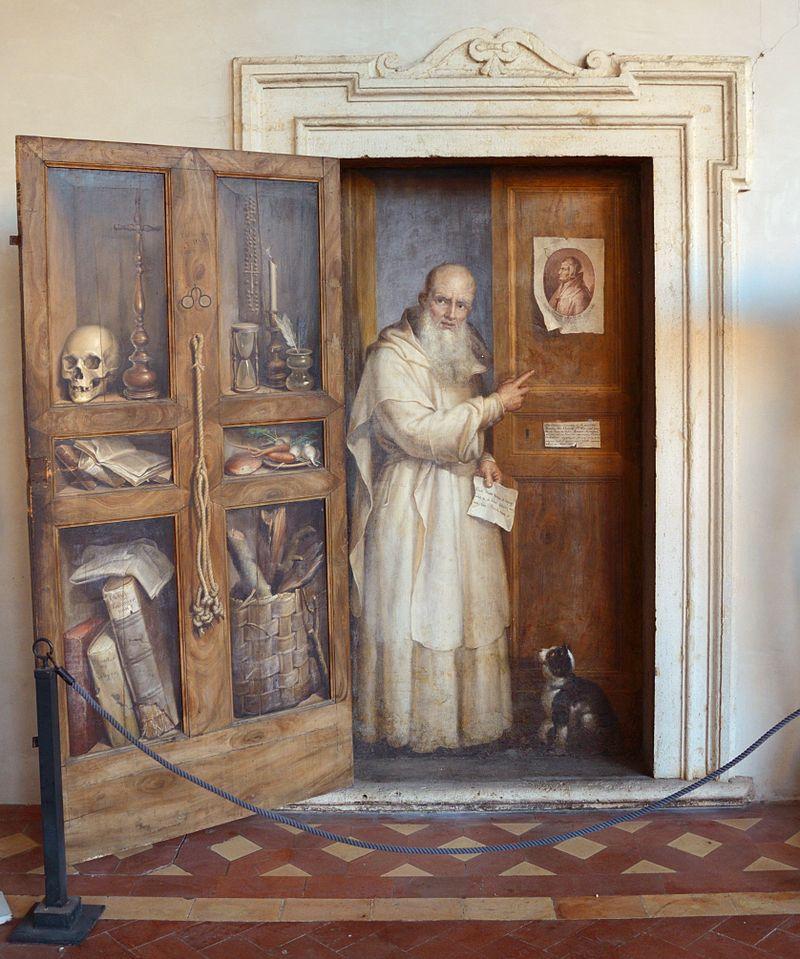 Filippo Balbi Fra Fercoldo nel chiostro di S. Maria degli Angeli