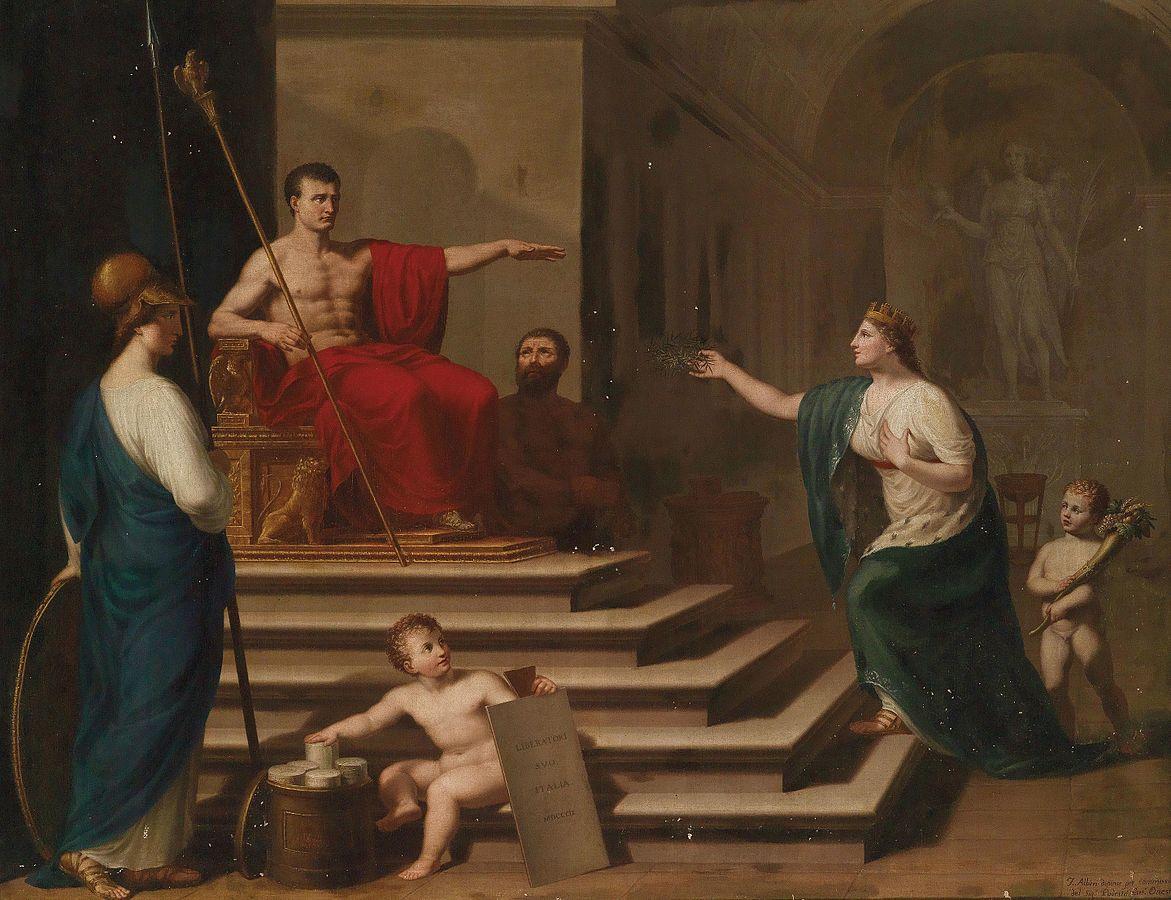 Francesco Alberi Allegorie di Napoleone che libera l'Italia
