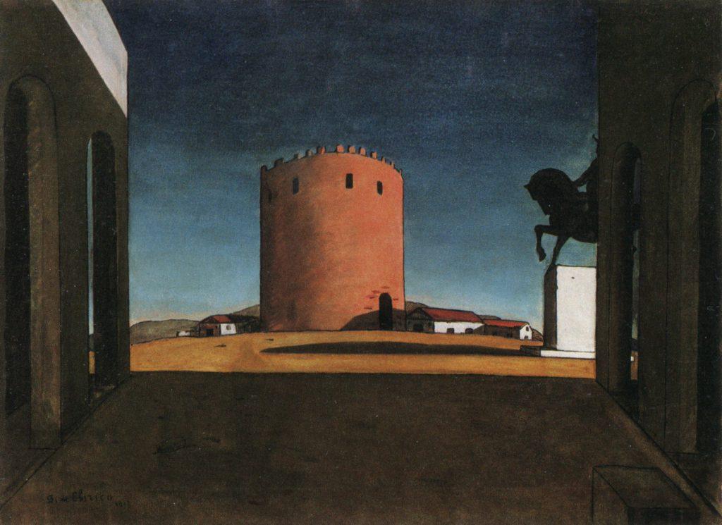 Giorgio De Chirico La torre rossa