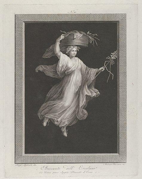 Luigi Agricola Un bacchante che porta un grande cestino in testa