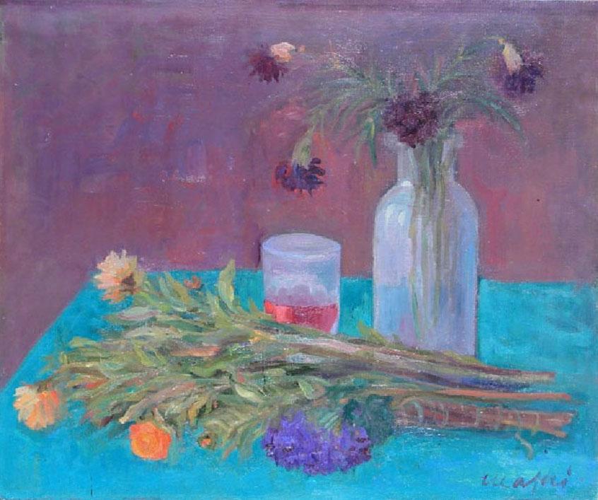 Mario Mafai natura morta con fiori