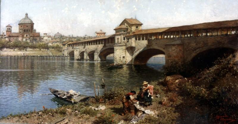 Riccardo Pellegrini Il ponte medievale sul Ticino a Pavia