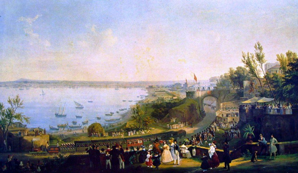 Salvatore Fergola Innaugurazione ferrovia di Portici 1840