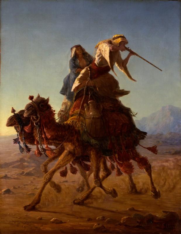 Stefano Ussi Beduini a cammello