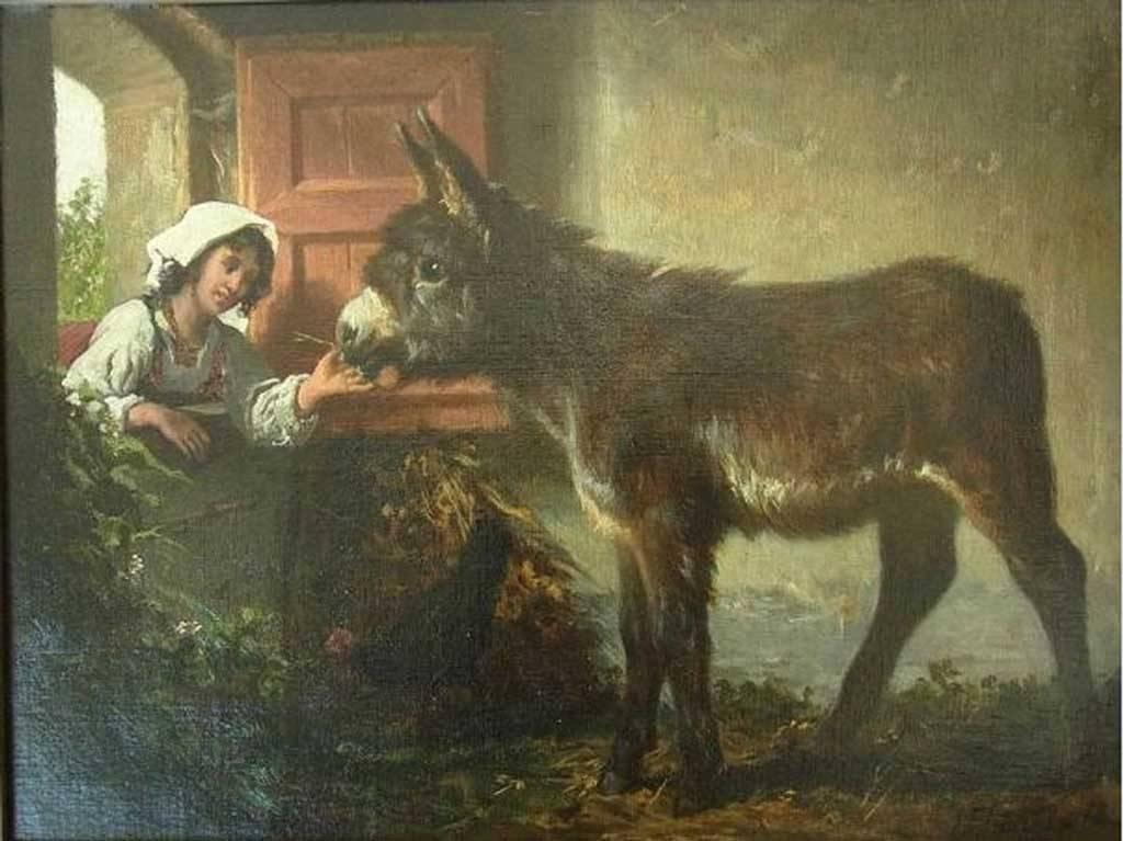 Valerico Laccetti nella stalla