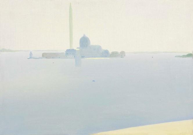 Virgilio Guidi Isola di San Giorgio 1957 olio su tela