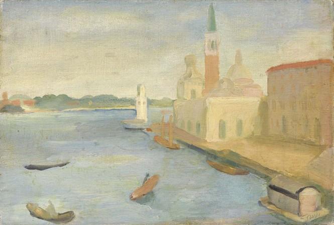 Virgilio Guidi - Punta della Dogana 1929 olio su tela