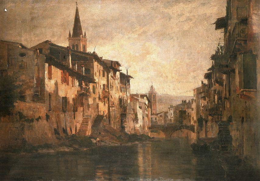 Vittorio Avanzi Canale dell'Acqua Morta 1882