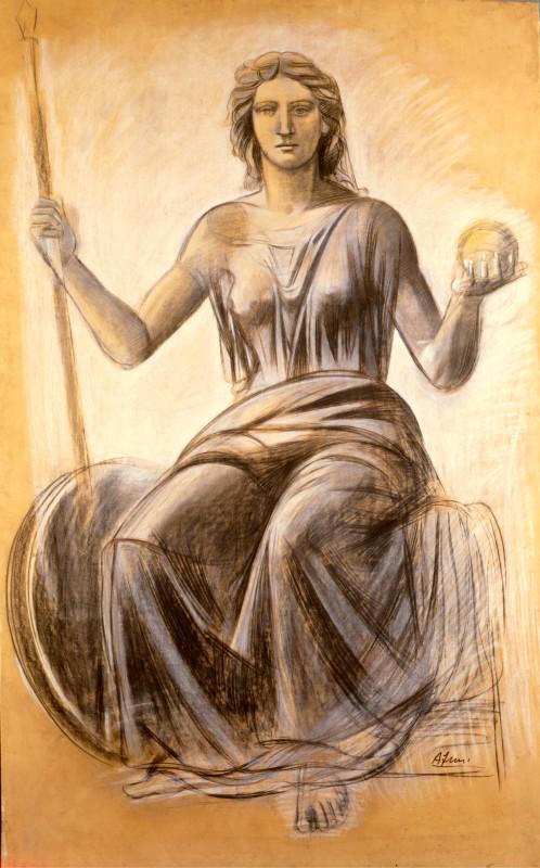 Achille Funi Dea Roma