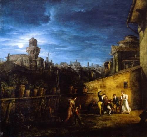Antonio Basoli terrazzo nel locale della Pontificia Accademia di Belle Arti