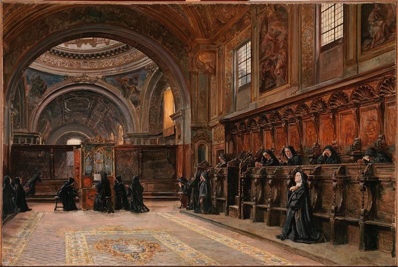 Domenico Battaglia Il coro della chiesa di Santa Maria Donnaregina Nuova