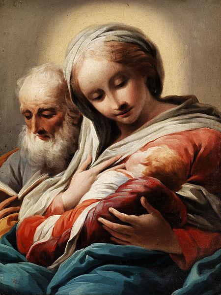 Domenico Pedrini Virgine con bimbo e San Giuseppe