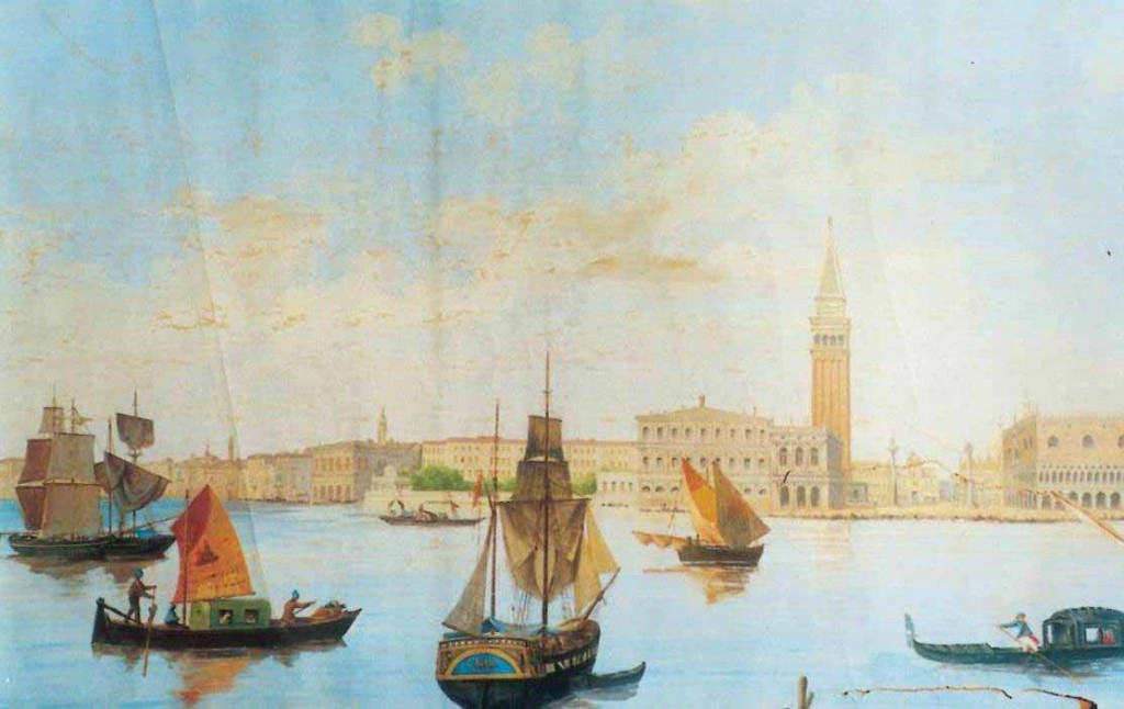 Giovanni Biasin Veduta del bacino di san Marco