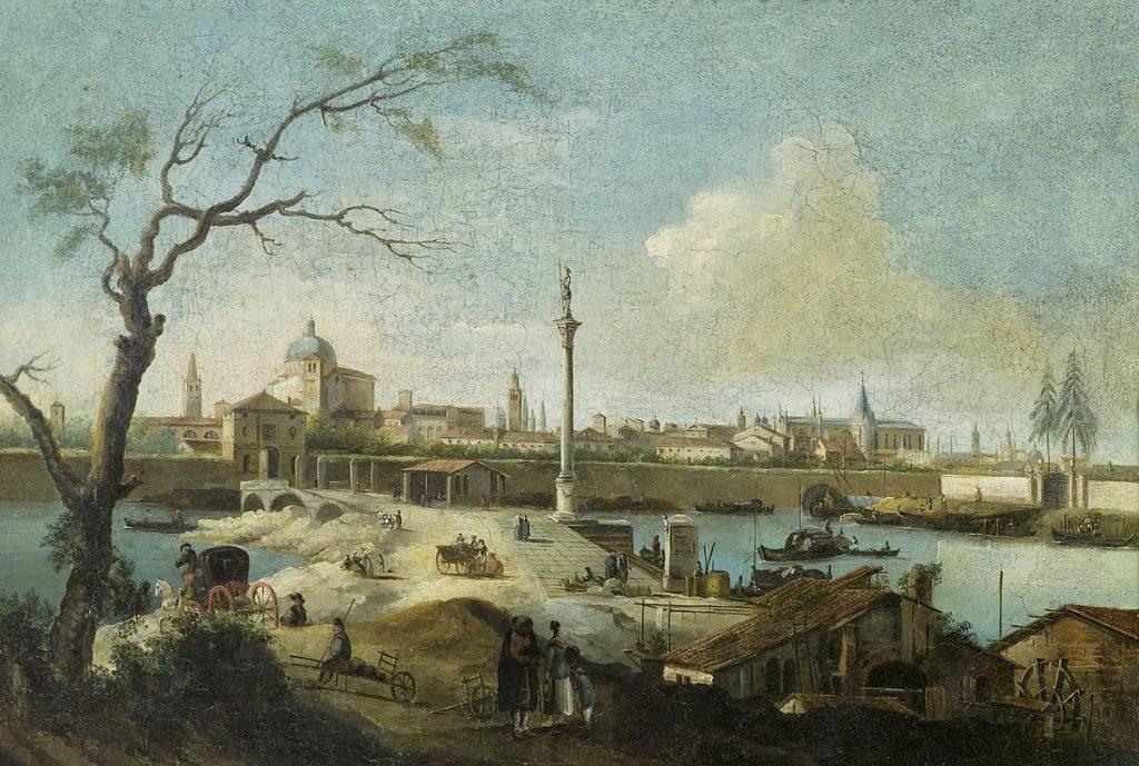 Giuseppe Bernardino Bison Capriccio con vista di Padova
