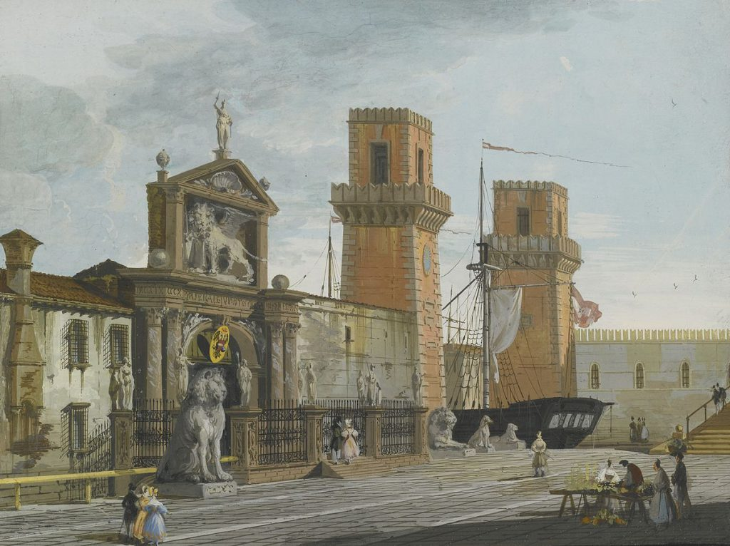 Giuseppe Bernardino Bison Vista dell'arsenale Venezia