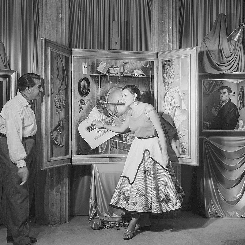 Gregorio Sciltian con la moglie 1955