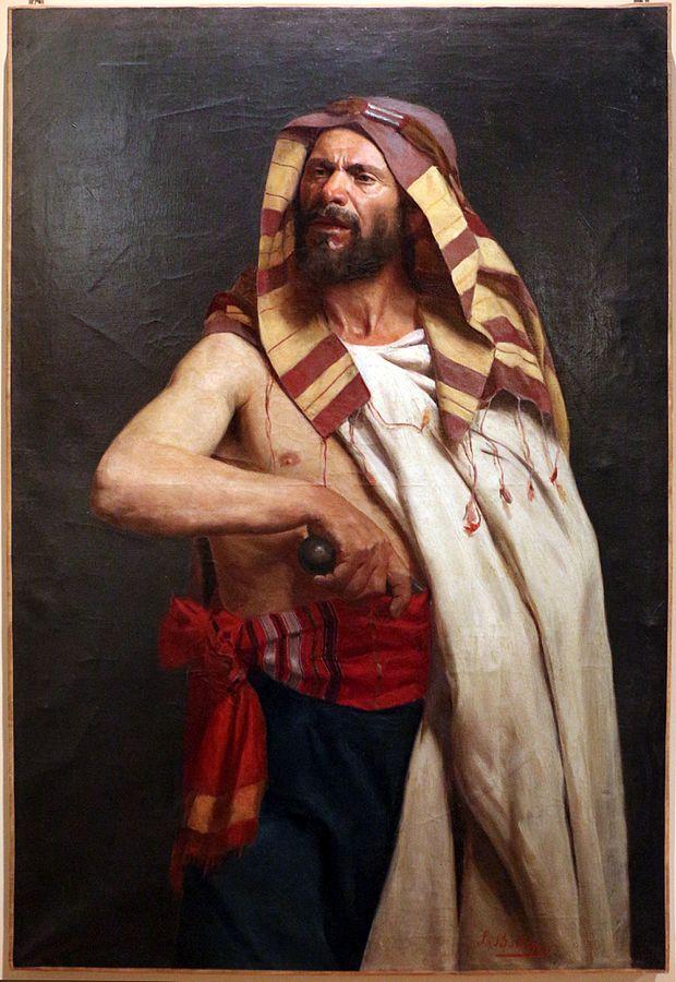 Leopoldo Battistini guerriero arabo 1887