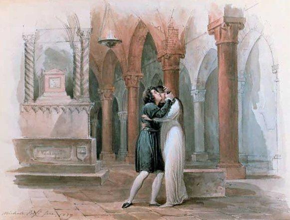Michele Bisi Acquarello Giulietta e Romeo