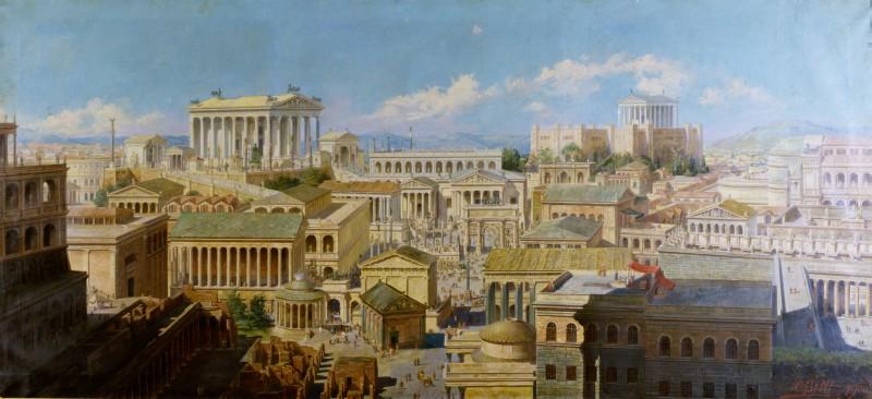 Oreste Betti Veduta della Roma imperiale