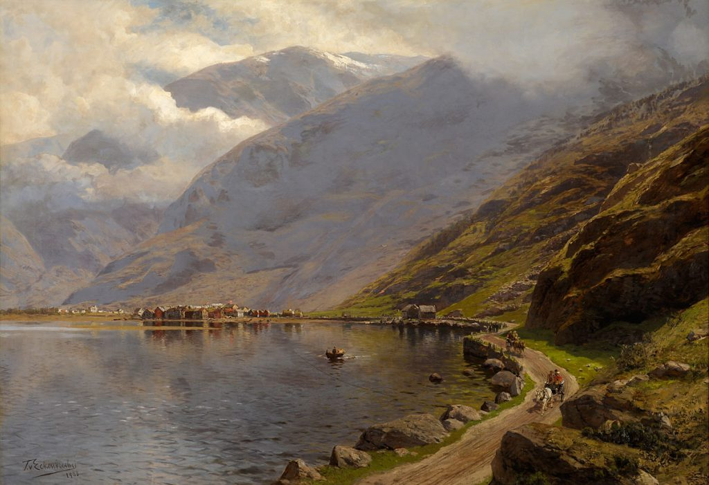 Oswald Achenbach Fiordi Norvegesi 1908