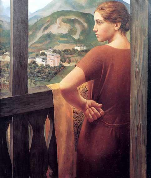 Ubaldo Oppi Donna alla finestra
