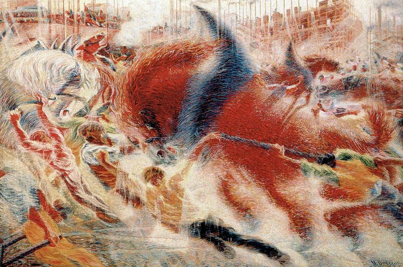Umberto Boccioni 1910 La città sale