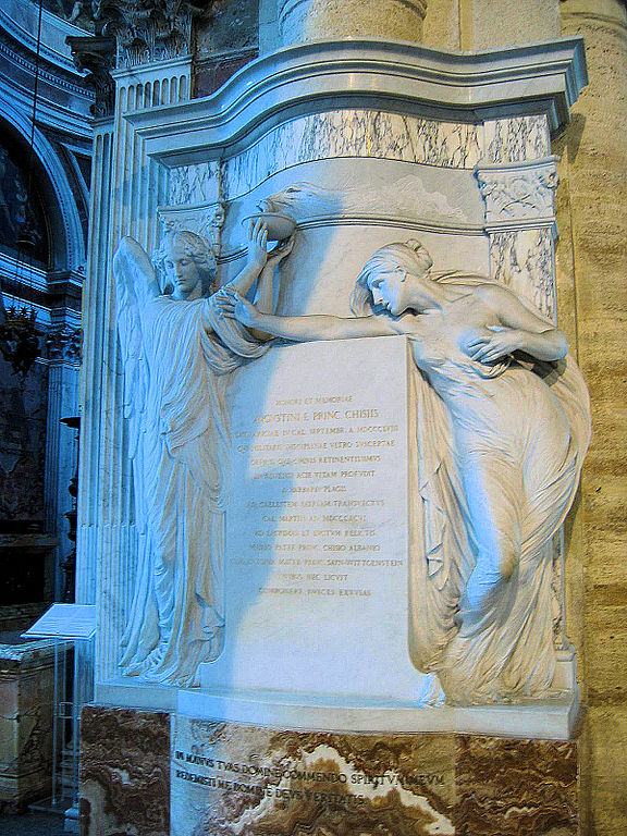 Adolfo Apolloni Monumento funerario ad Agostino Chigi