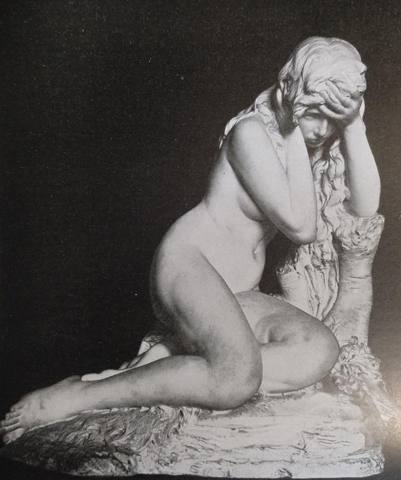 Antonio Allegretti Eva dopo il peccato opere realizzata in marmo