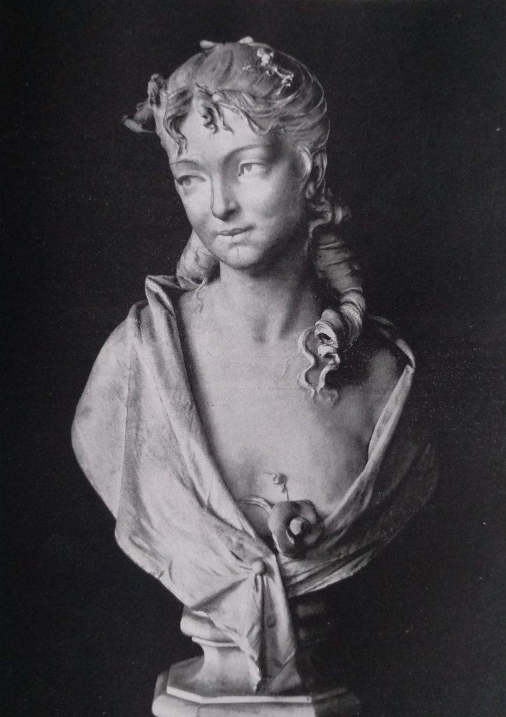 Enrico Braga busto di giovinetta