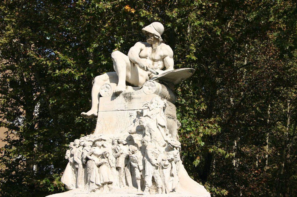 Ernesto Bazzaro Monumento a Felice Cavallotti 1906