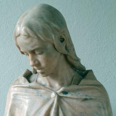 Giulio Branca La Vergine di Nazareth marmo di Candoglia