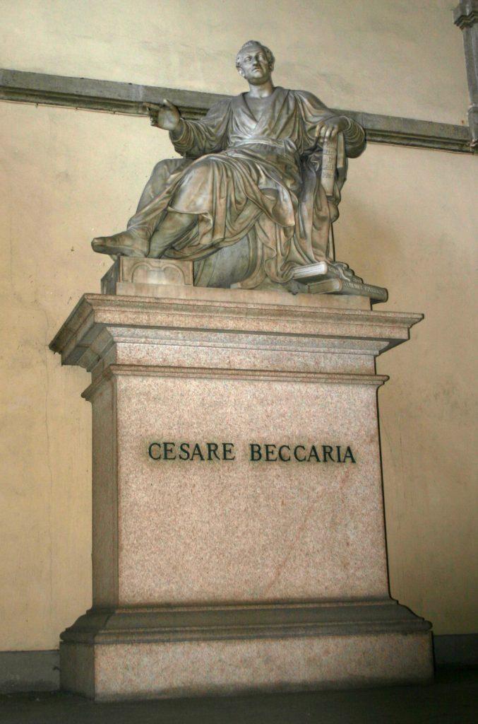 Pompeo Marchesi scultura di Cesare Beccaria