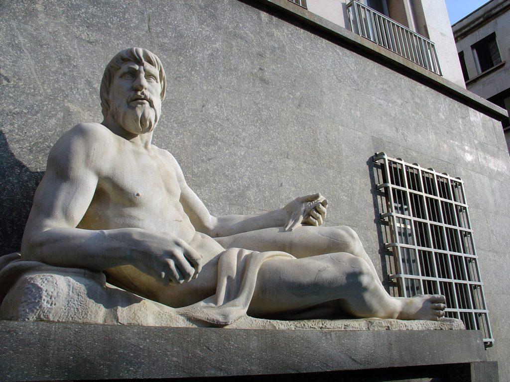 Umberto Baglioni Statua del Po e Dora