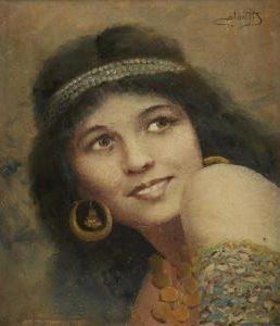 Camillo Miola Giovane ragazza con orecchini