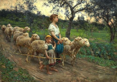 Francesco Paolo Michetti Pascolo con pecore