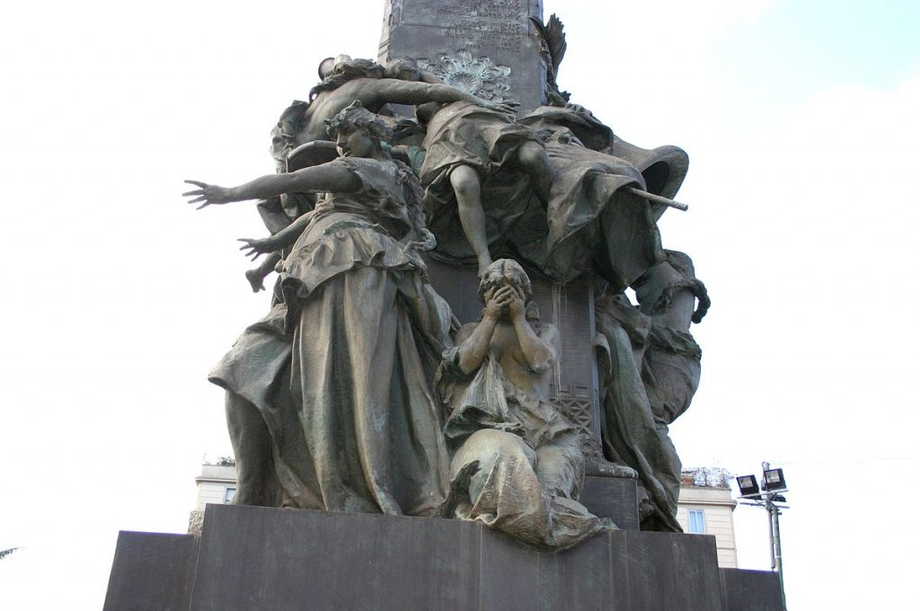 Giuseppe Grandi Monumento alle 5 giornate 1895