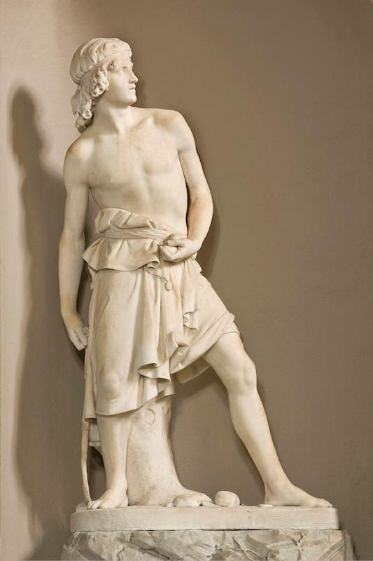Innocenzo Fraccaroli Davide che lancia la fionda
