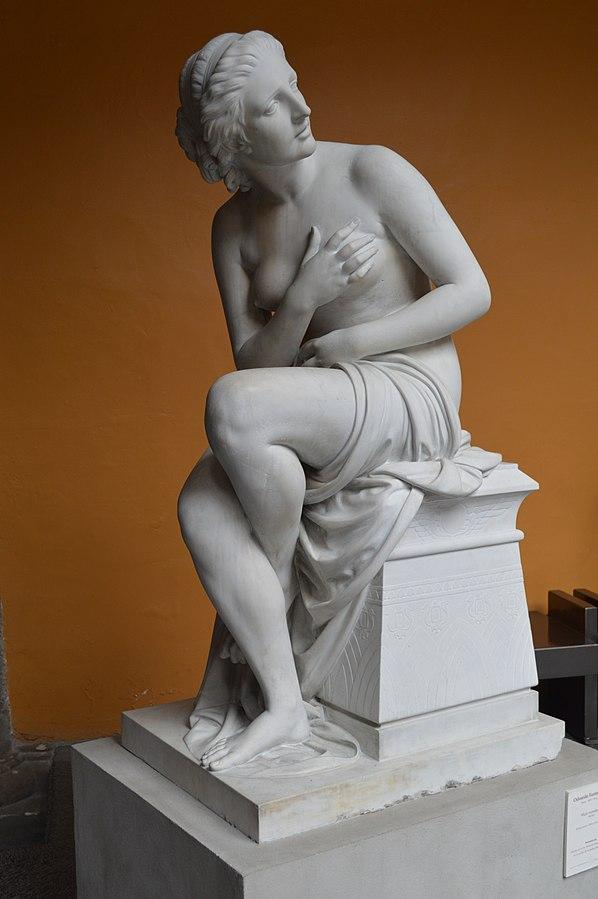 L'opera scultorea Donna seduta di Odoardo Fantacchiotti esposta al Museo Nacional de San Carlos di Città del Messico.