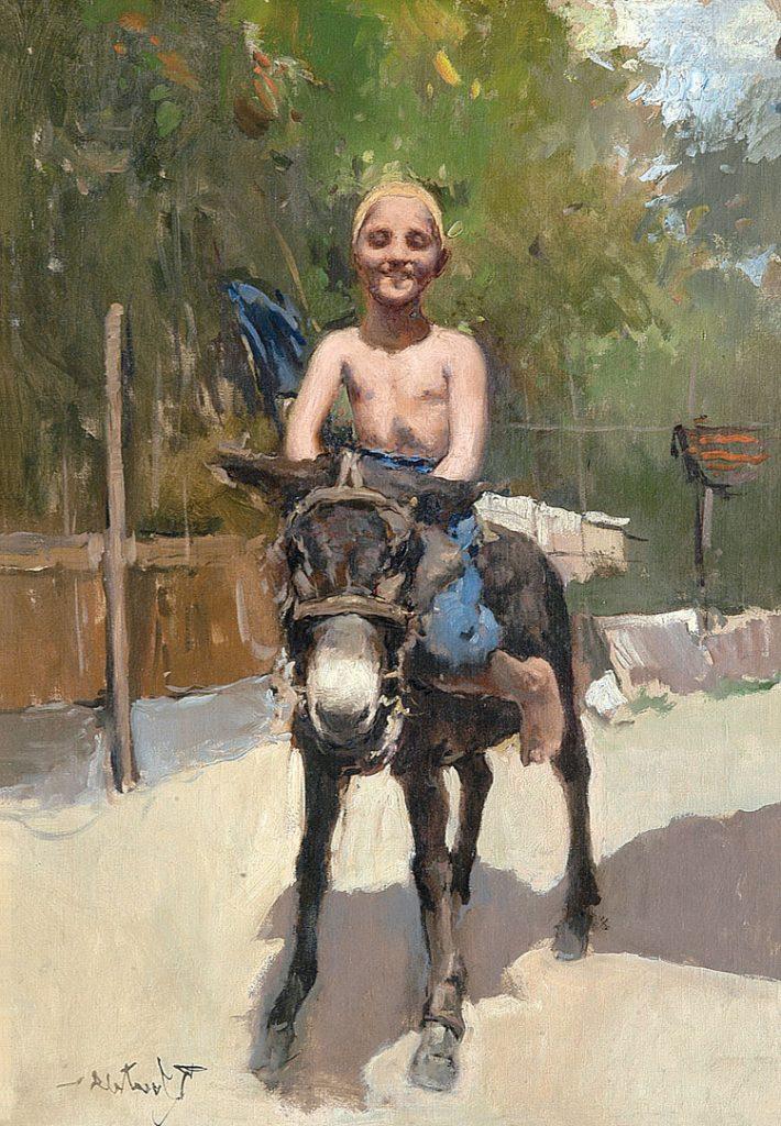 Romualdo Locatelli Ragazzo che ride a cavallo
