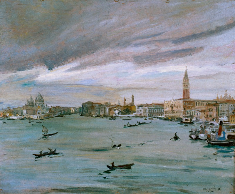 Aldo Carpi Il bacino di San Marco a Venezia