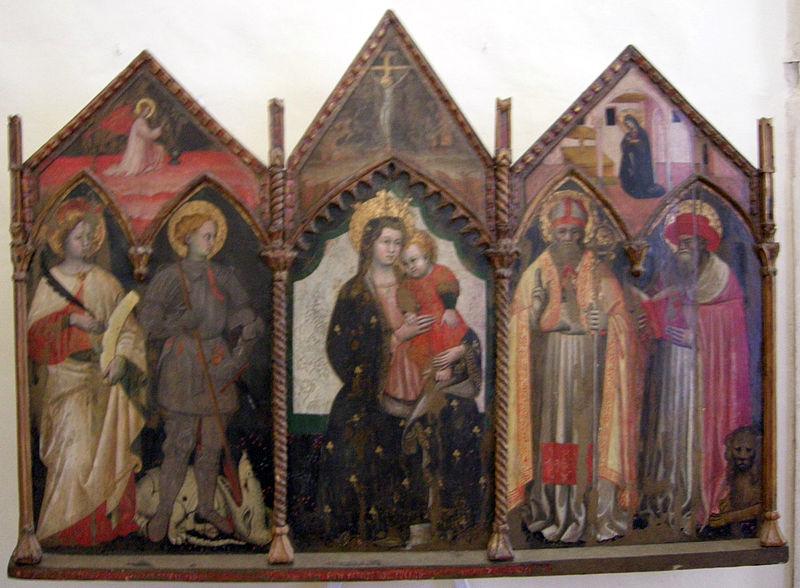 Antonio Alberti madonna col bambino e santi