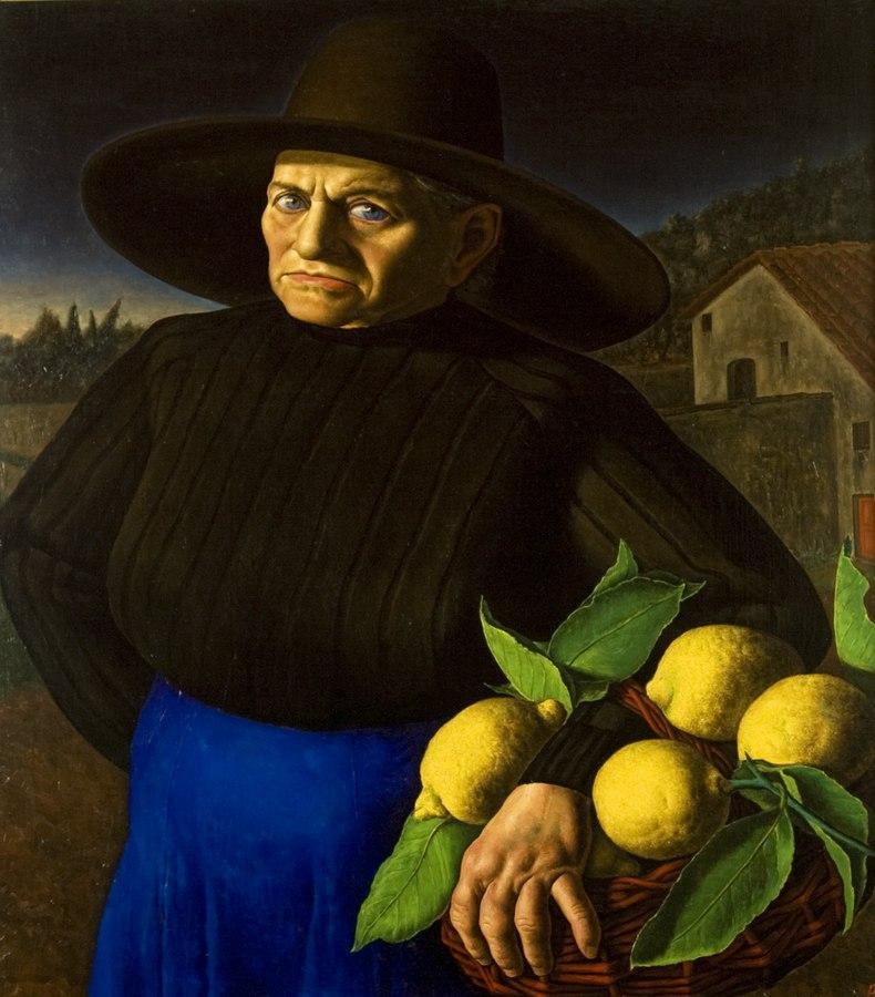 Giovanni Acci Donna con i limoni