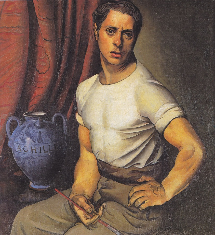 Achille Funi Autoritratto con brocca