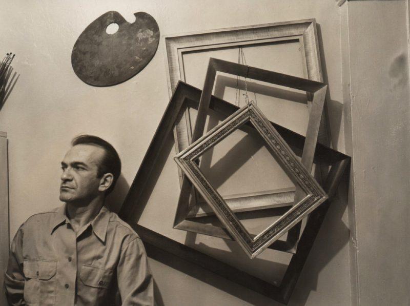 Corrado Cagli nello studio di New York