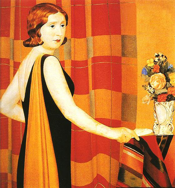 Mario Broglio Ritratto con vaso di fiori 1930